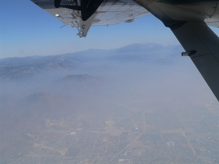 Sampling air quality over Los Angeles