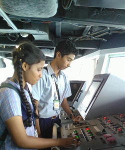 Goa schoolchildren tour NOAA Ship Ronald Brown