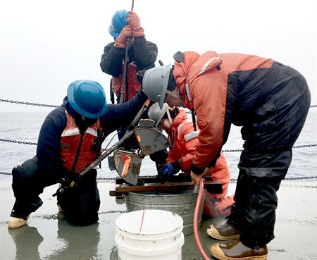 Sampling the seafloor