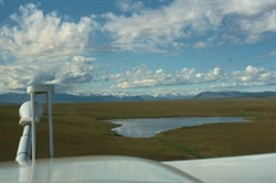 View of Alaskan tundra from NOAA's Long-EZ plane