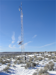 A NOAA weather tower