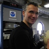 Prime Minister Stoltenberg with NOAA Corps LTJG Moe