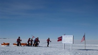 The Norwegian expedition's arrival to South Pole in December 2011.